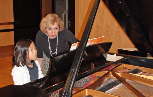 Photo of Valley Piano student and teacher
